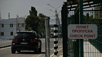 Пункт пропуска Армянск на границе России и Украины