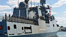 Прибытие нового сторожевого корабля Адмирал Григорович в Севастополь