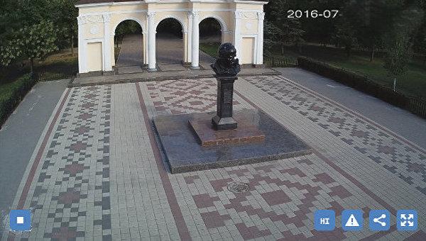 Скриншот с камеры видеонаблюдения