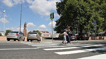 Пешеходный переход на площади Ленина в Симферополе