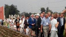 Французские делегаты прибыли на мемориал Красный в Мирном