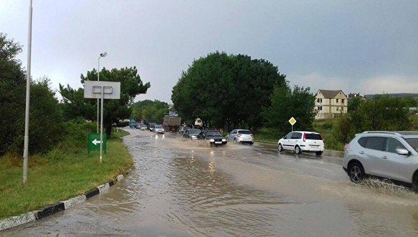 На8-9октября вгосударстве Украина объявили штормовое предупреждение