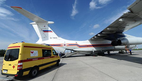 Борт МЧС перевезет изСимферополя в столицу Российской Федерации 4 человек, пострадавших вДТП
