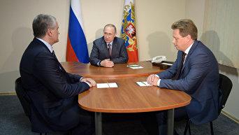 Посещение президентом РФ В. Путиным Всероссийского молодежного образовательного форума Таврида
