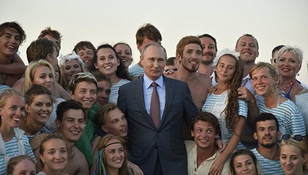 Посещение президентом РФ Владимиром Путиным Всероссийского молодежного образовательного форума Таврида