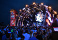 Участники музыкального коллектива Bril Family выступают на фестивале Koktebel Jazz Party
