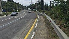 Завершен ремонт аварийного участка дороги Симферополь – Алушта – Ялта в районе поселка Массандра