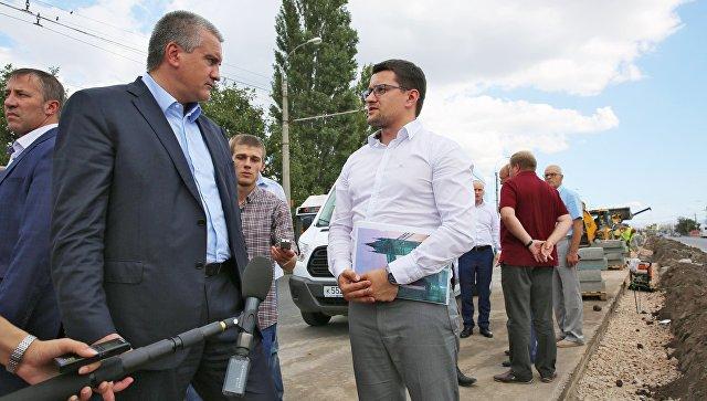 Аксенов оценил ремонт дорог вСимферополе натвердую четверку