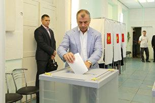 Председатель Государственного Совета РК Владимир Константинов проголосовал на выборах в Госдуму РФ