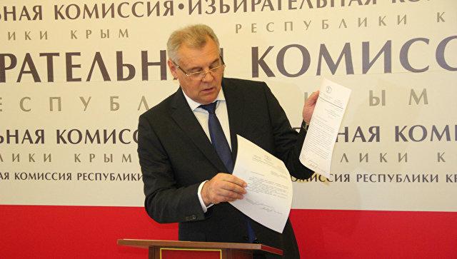 Председатель Центральной избирательной комиссии Крыма Михаил Малышев в ЦИК Республики Крым