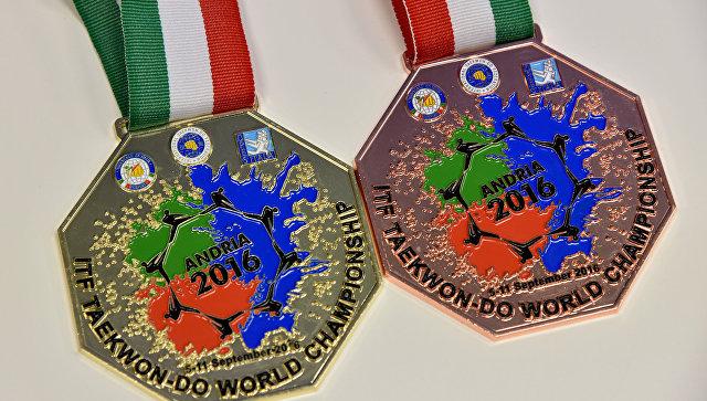 Медали крымского тхэквондиста Владимира Кима