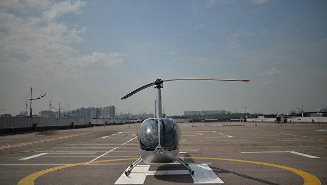 Вертолетная площадка. Архивное фото