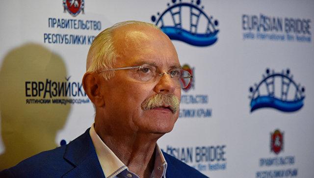 Режиссер Никита Михалков на открытии первого международного кинофестиваля Евразийский мост в Ялте