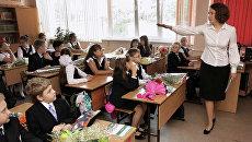 Первый рабочий день новосибирской учительницы Д.Черепановой
