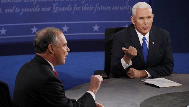 Дебаты кандидатов в вице-президенты США Тима Кейна и Майкла Спенса