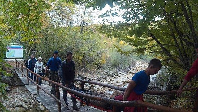Эвакуация пострадавшей туристки