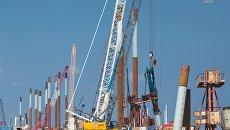 Строители моста в Крым и подходов к нему