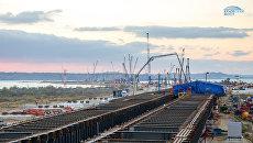 Сформирован первый участок плиты проезжей части Крымского моста