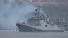 Фрегат ЧФ Адмирал Григорович отправился из Севастополя к берегам Сирии