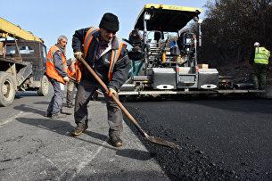 Ремонт дороги. Ялтинская объездная. 9 ноября 2016 года
