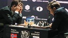 Сергей Карякин на матче за звание чемпиона мира. Архивное фото