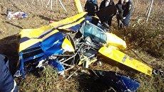Падение частного вертолета под Алуштой