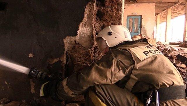 Тушение пожара в Евпатории