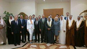 Встреча официальных представителей Республики Крым с руководством Бахрейна, организованная Торгово-промышленной палатой РФ. В центре - король Бахрейна Хамад Бен Иса Аль Халифа