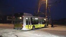 Занос троллейбуса в Севастополе