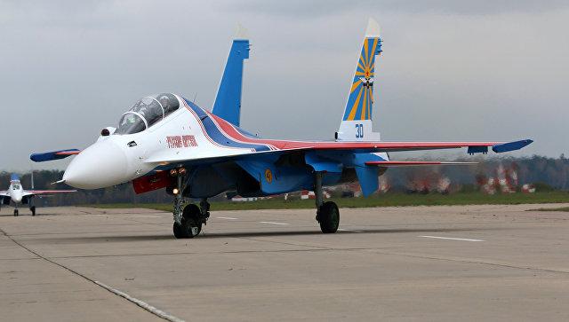 Морскую авиациюЧФ усилили тремя новейшими истребителями Су-30СМ