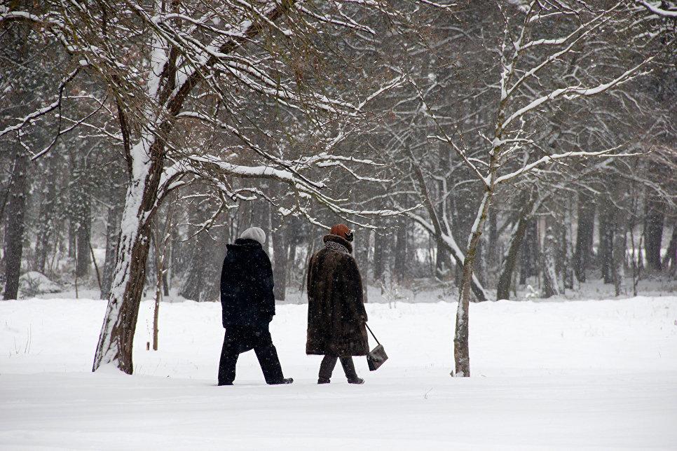 Зима в Симферополе