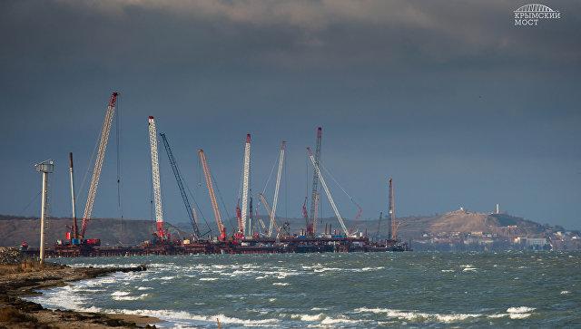 Строительство моста через Керченский пролив. Декабрь 2016