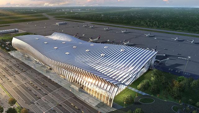Проект нового аэровокзального комплекса аэропорта Симферополь