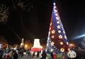 Главная новогодняя елка Севастополя на площади Нахимова