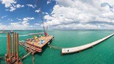 Строители начали сооружение судоходной части Крымского моста