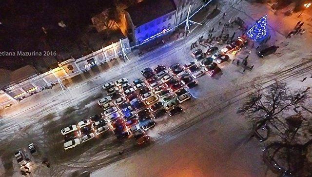 В Евпатории прошел флешмоб Автоелка