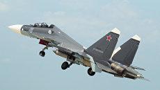 Самолет Су-30СМ Черноморского флота