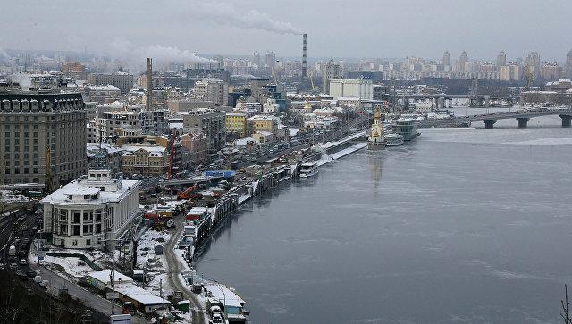 Вид на Днепр в Киеве