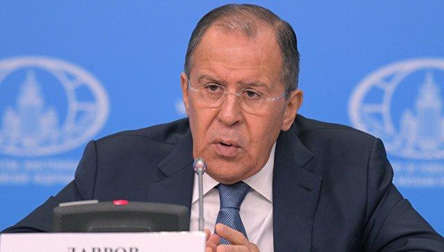 Пресс-конференция министра иностранных дел РФ С. Лаврова