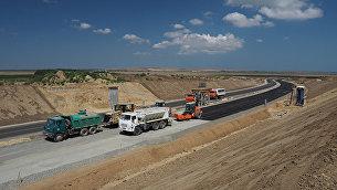 Строительная площадка новой трассы в Крым. Архивное фото