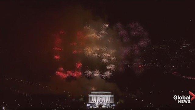 Кадр с видео о торжественном мероприятии перед инаугурацией Дональда Трампа