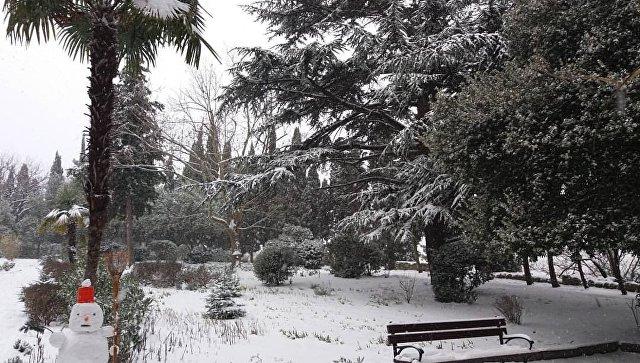 Снегопад в Ялте глазами пользователей соцсетей