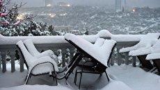 Снегопад в Ялте