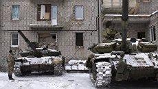 Танки ВСУ в Авдеевке (Украина). Архивное фото