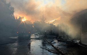 Последствия обстрела города Донецка