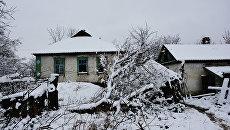 Жилые дома на линии соприкосновения в Донбассе
