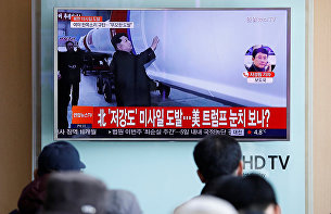 Передача об испытании баллистических ракет в КНДР по телевидению Южной Кореи