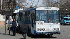 Троллейбусный парк в Симферополе