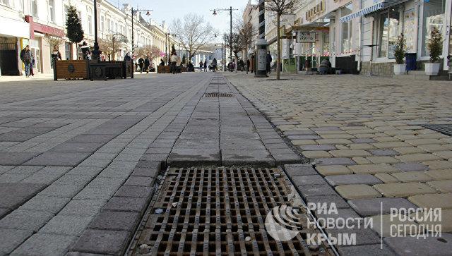 Работы по исправлению недостатков, допущенных в ходе реконструкции центральных улиц Симферополя