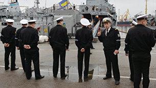 Украинские военные моряки в Одессе. Архивное фото